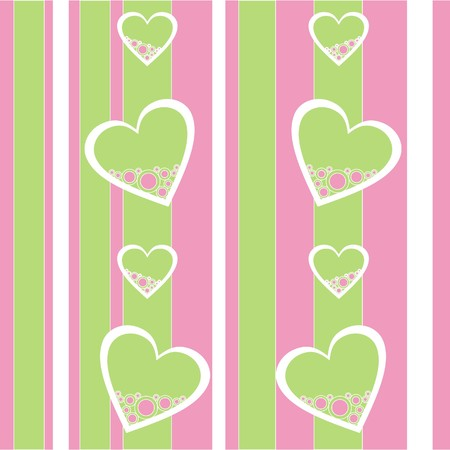 Seamless ornament with heart in color   Vector