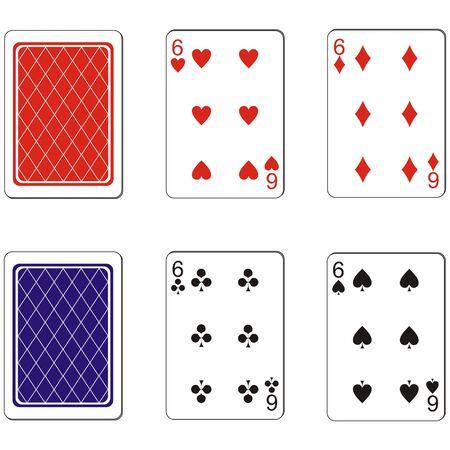 Playing card set Vector
