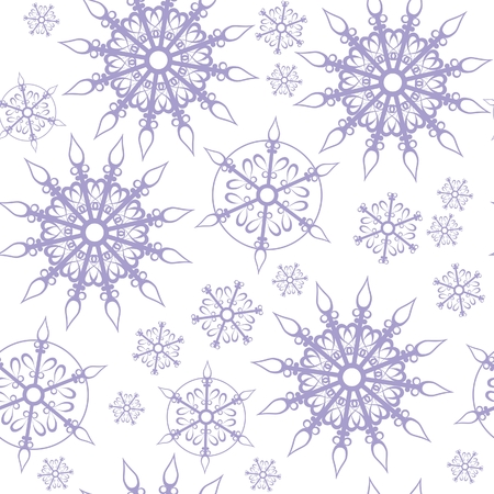 Seamless ornament snowflake