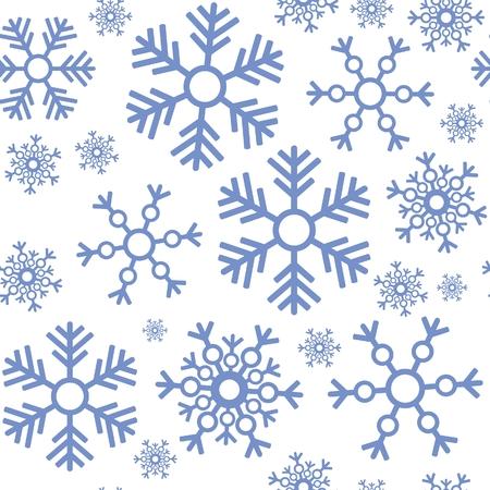 Fiocco di neve perfetta ornamento  Vettoriali