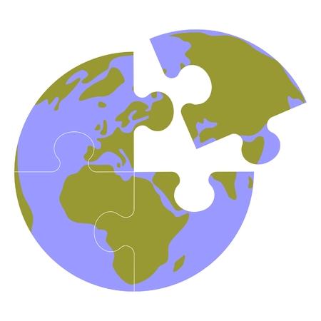Earth globe set Vector