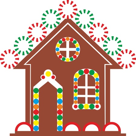 Vector. Gingerbread house color 03 Vector