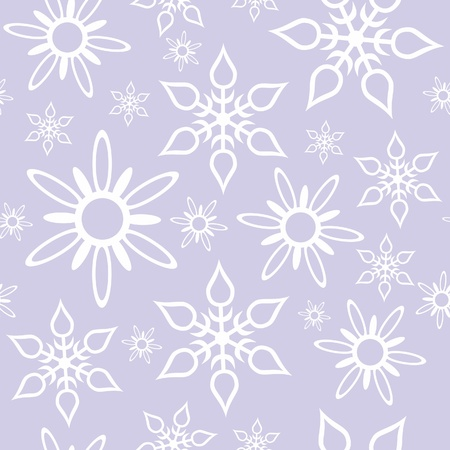 Vector. Seamless ornament snowflake  in color 468 Vector