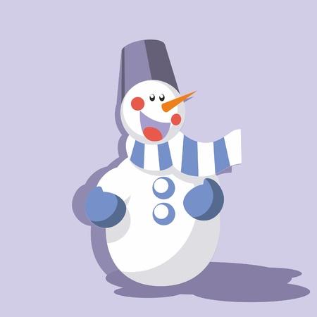 Vector. Snowman in color 09 Stock Vector - 8290227