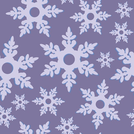 Seamless ornament snowflake  in color 475 Vector