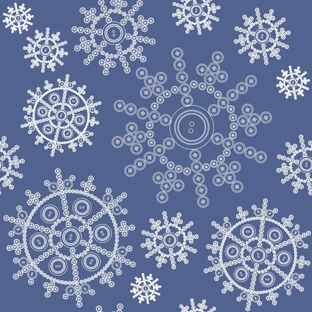 Seamless ornament snowflake  in color Stock Vector - 8313437