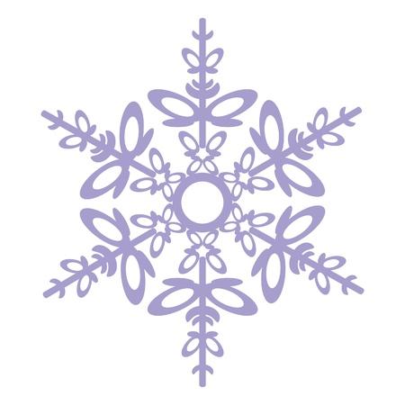 Fiocco di neve isolato in colore 03