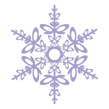 contours:   Isolated snowflake  in color 03