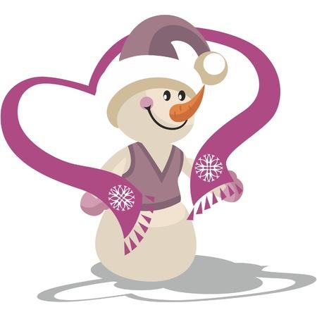 Snowman in color 22 Vector