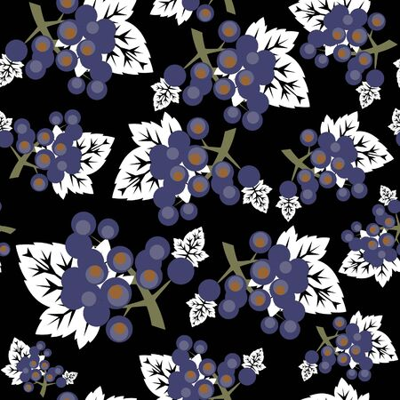 Vector. Seamless ornament  in color 486 Vector