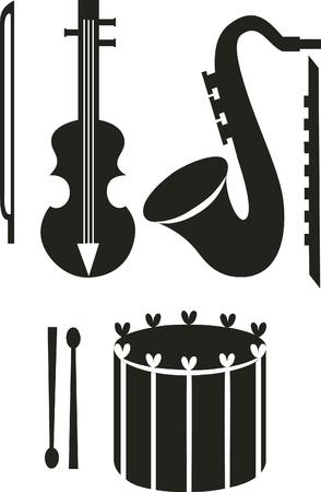 Vector. Music instruments Vector