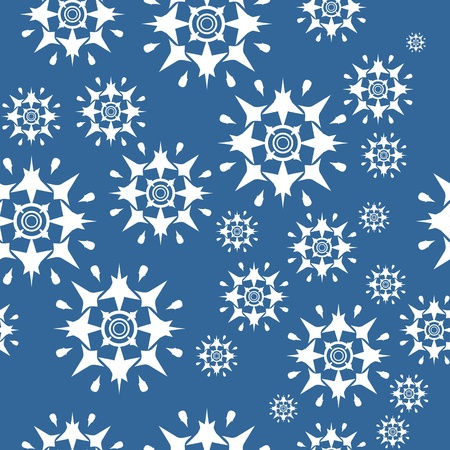 Seamless ornament snowflake  in color 489 Vector