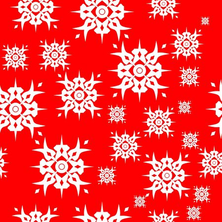 Seamless ornament snowflake  in color 493 Vector