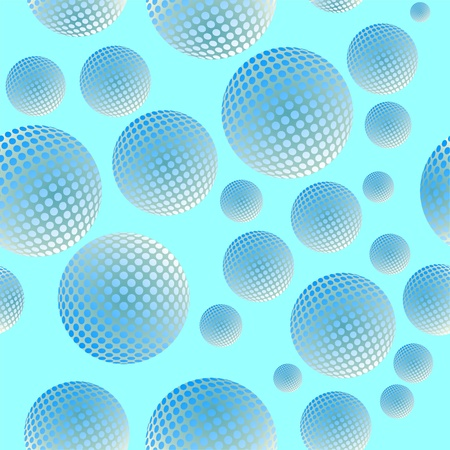 Vector. Seamless ornament with ball in color 496 Vector