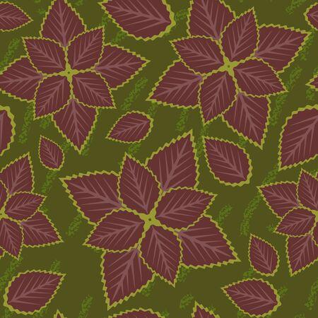 Seamless grunge leaf Stock Vector - 15644347