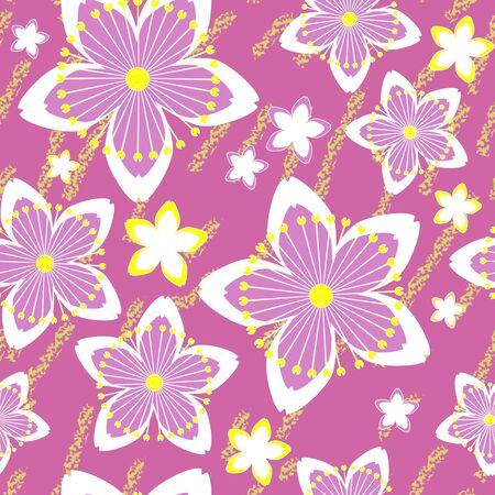 Seamless grunge flower texture Stock Vector - 15732295