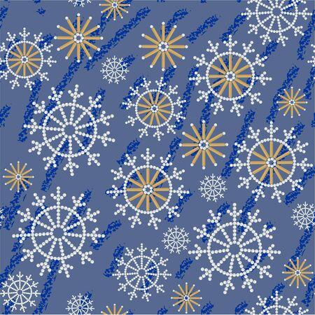 Vector.Seamless abstract snowflake grunge texture 534 Vector