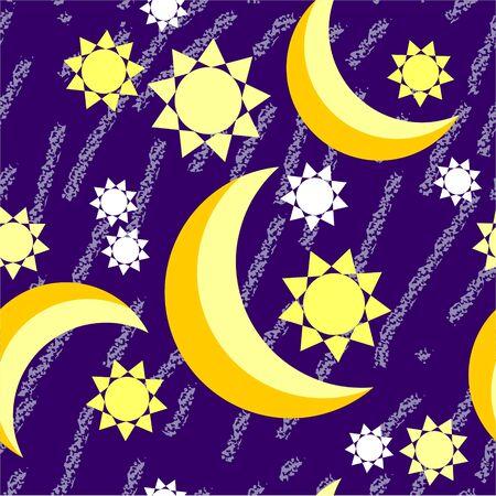 Seamless moon night grunge  Vector