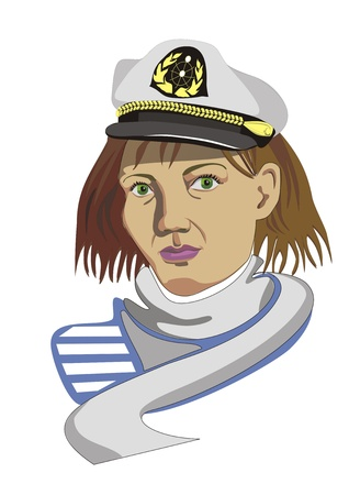 Sailor women color Vector