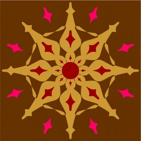 rubin: Vector  Ornament  in color 52