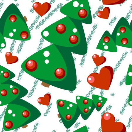 Vector  Seamless christmas tree grunge texture 544 Vector