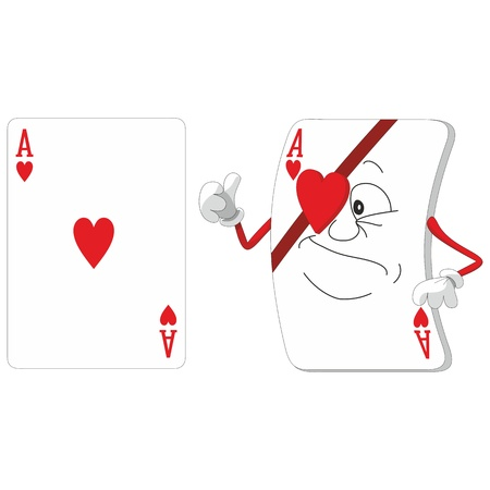 Vector  Emotional playing card set 12 Vector