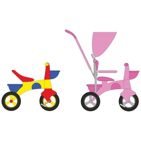 three wheel: Vector  Bicycle set 01