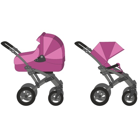 baby stroller: Vector Carriage set 01