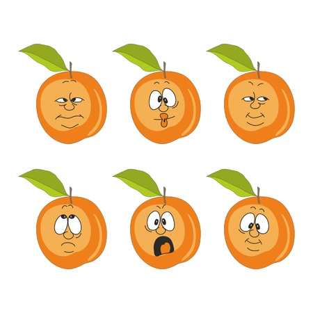 Vector Emotion cartoon peach set  Vector