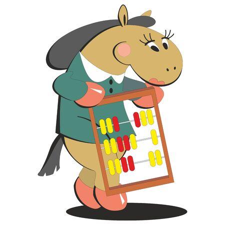 keeps: Vector. Horse keeps score 008 Illustration