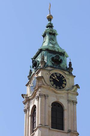 st nicholas cathedral: St. Nicholas Cathedral exterior in Prague, Czech Republic 6696