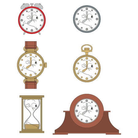 watch face: Cartoon winking clock or watch face smiles illustration 015 Illustration