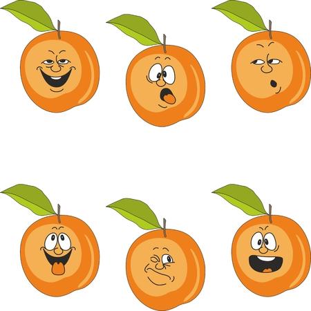 Vector.Emotion cartoon peach  Vector