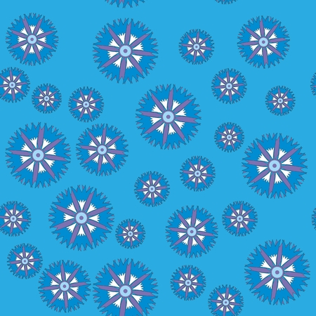 pastel like: seamless pattern with cornflower on color background Illustration
