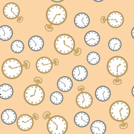 old wallpaper: Seamless retro pattern with watches