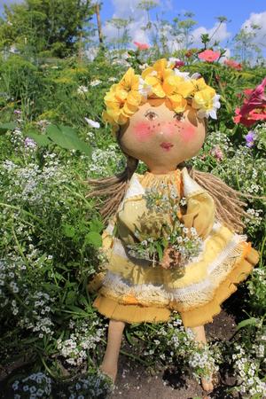 rag doll: Russian homemade rag doll as symbol of summer