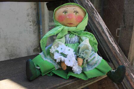rag doll: Russian homemade rag doll as symbol of spring
