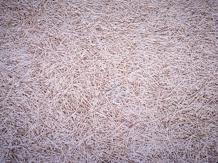 light brown  texture background - natural straw material or pattern for interior decoration. Organic grass fiber with lines on surface. Wicker backdrop  for your organic wallpaper. toned picture