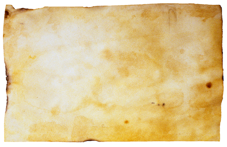 Grunge crumpled dirty beige paper sheet vintage background. Old brown paper texture with scratches. Abstract art For desktop wallpapers, banner. Copy space, text box. Dark rough textured spotted blank