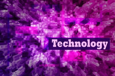 Techno abstract background, pink and blue screen. Transparent rectangles. Abstract Techno Lines Background, copy space for design, desktop, wallpapers, banners, social media covers. Technology text 版權商用圖片 - 134807674