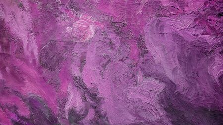 Close up of Real purple Oil Painting, Art Tapestry for Wall Hanging Bedroom. Living Room Decor. Print, Modular image. Brush strokes with acrylic paint on canvas