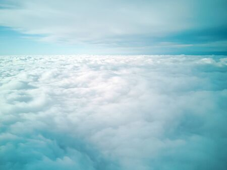 Picture of plane in the blue sky panorama. Abstract background with copy space. image for desktop, background, wallpaper