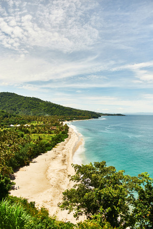 Top view of the beach. Lombok Island, Indonesia.