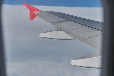 View of the aircraft from the window.