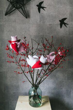 Handmade toys for interior decoration. Tilda toys.