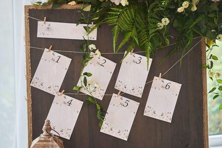 Decor wedding celebration. Seating at a wedding celebration.