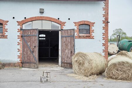 Corral for horses. Farm. Agriculture.