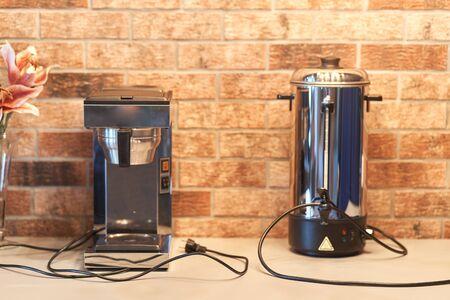 Coffee machine in the hotel lobby. Coffee machine. Stockfoto