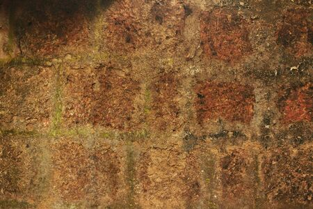 Old red brick wall. Background. Old wall in India.