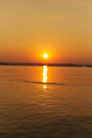 India, North Goa. Beautiful Sunset at Arambol Beach.